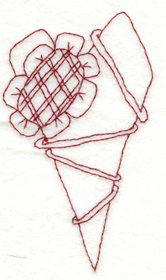 "Embroidery Design: Snickerdoodle Country Heart With Flower2.16"" x 3.88"""