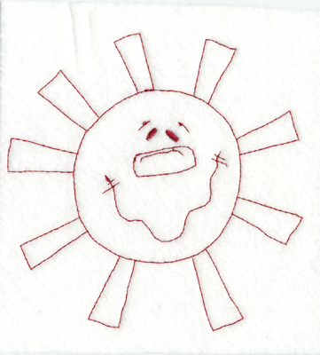 """Embroidery Design: Snickerdoodle Sun (large)5.67"""" x 5.61"""""""