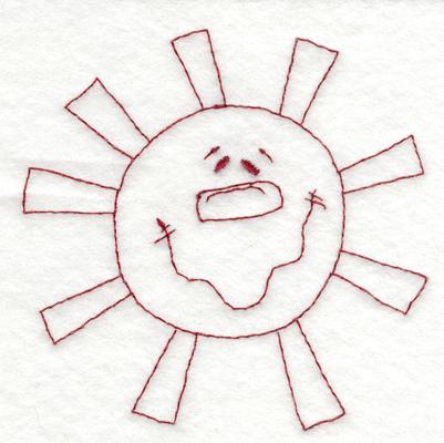 "Embroidery Design: Snickerdoodle Sun3.67"" x 3.64"""