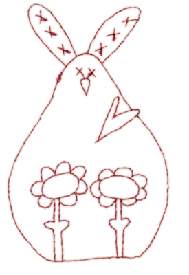 "Embroidery Design: Snickerdoodle Bunny2.32"" x 3.76"""