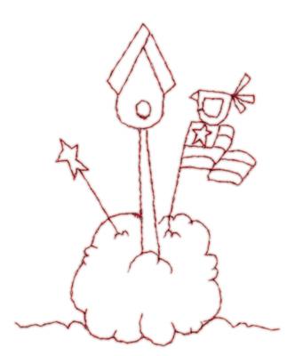 """Embroidery Design: Bird House Dreams2.99"""" x 3.64"""""""