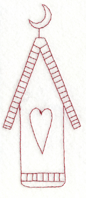 """Embroidery Design: Snickerdoodle Country Birdhouse (large)2.58"""" x 5.93"""""""