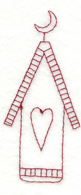 """Embroidery Design: Snickerdoodle Country Birdhouse1.71"""" x 3.93"""""""