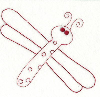 """Embroidery Design: Snickerdoodle Butterfly (large)5.60"""" x 5.06"""""""