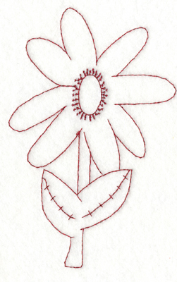 """Embroidery Design: Snickerdoodle Flower (large)3.84"""" x 5.91"""""""