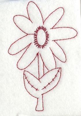 """Embroidery Design: Snickerdoodle Flower2.54"""" x 3.91"""""""