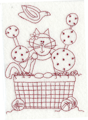 Embroidery Design: Easter Kitty (large)4.46w x 6.00h