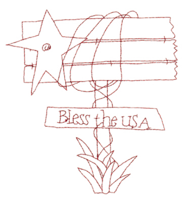 """Embroidery Design: Sign Post Snickerdoodle (large)5.46"""" x 6.00"""""""