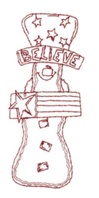 "Embroidery Design: Snickerdoodle Believe1.62"" x 3.85"""