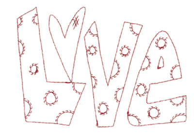"Embroidery Design: Snickerdoodle Love (large)5.80"" x 4.02"""