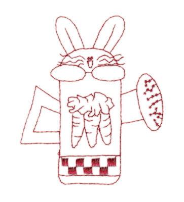 "Embroidery Design: Snickerdoodle Bunny Watering Can3.29"" x 3.94"""