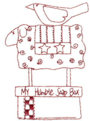 """Embroidery Design: Snickerdoodle Soap Box (large)4.12"""" x 2.88"""""""