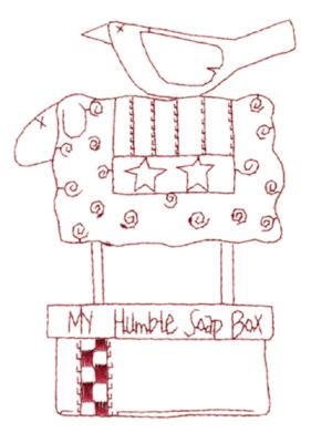 "Embroidery Design: Snickerdoodle Soap Box2.71"" x 3.88"""