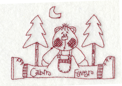 """Embroidery Design: Snickerdoodle Cabin Fever3.78"""" x 2.67"""""""