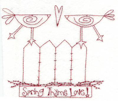 """Embroidery Design: Snickerdoodle Spring Time Love (large)5.91"""" x 4.91"""""""