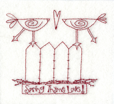 """Embroidery Design: Snickerdoodle Spring Time Love3.91"""" x 3.25"""""""