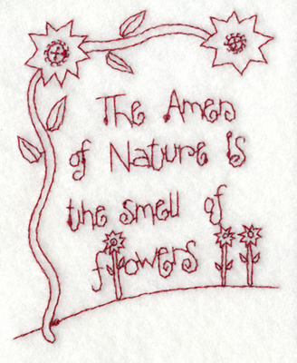 """Embroidery Design: Snickerdoodle Flowers 2 (large)4.77"""" x 5.88"""""""