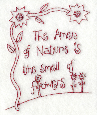 """Embroidery Design: Snickerdoodle Flowers 23.14"""" x 3.88"""""""