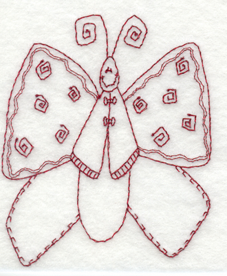 """Embroidery Design: Snickerdoodle Butterfly 23.11"""" x 3.82"""""""