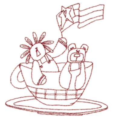 """Embroidery Design: Snickerdoodle Cup of Toys3.49"""" x 3.86"""""""