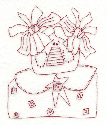 """Embroidery Design: Happy Country Gal4.64"""" x 5.90"""""""