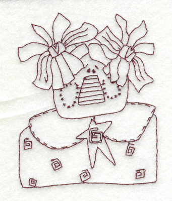 """Embroidery Design: Happy Country Gal (small)3.07"""" x 3.90"""""""