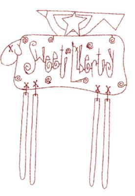 "Embroidery Design: Snickerdoodle Sheep Bird4.27"" x 5.81"""