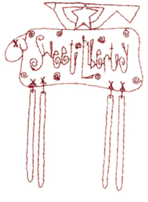 "Embroidery Design: Snickerdoodle Sheep Bird2.81"" x 3.81"""