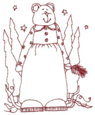 "Embroidery Design: Snickerdoodle Bear Grandma3.28"" x 3.99"""