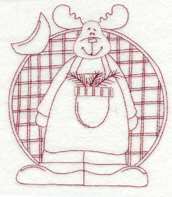 """Embroidery Design: Snickerdoodle Moose (large)5.07"""" x 5.94"""""""