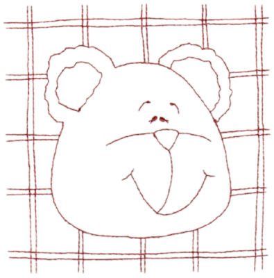 """Embroidery Design: Snickerdoodle Bear 3 (large)5.80"""" x 5.89"""""""