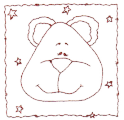 """Embroidery Design: Snickerdoodle Bear 43.58"""" x 3.63"""""""