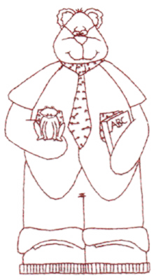 """Embroidery Design: Snickerdoodle Grandpa Bear (large)3.23"""" x 5.94"""""""