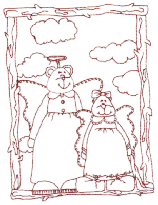 """Embroidery Design: Snickerdoodle Grand Angels (large)4.46"""" x 6.00"""""""