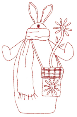 "Embroidery Design: Snickerdoodle Bunny 3 (large)3.67"" x 5.76"""
