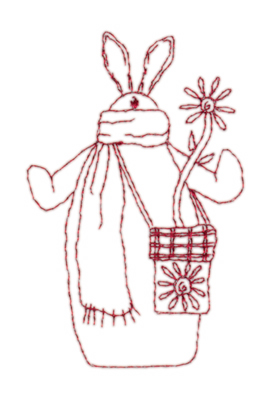 "Embroidery Design: Snickerdoodle Bunny 32.40"" x 3.76"""