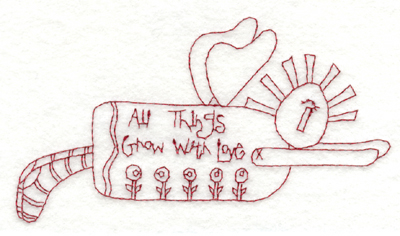 "Embroidery Design: All Things Grow with Love5.88"" x 3.48"""
