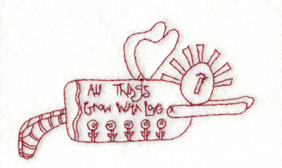 "Embroidery Design: All Things Grow with Love (small)3.88"" x 2.29"""