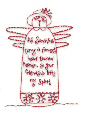 "Embroidery Design: Friendship Doll (small)2.86"" x 3.85"""