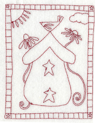 """Embroidery Design: Snickerdoodle A Place in the Sun (large)3.02"""" x 3.85"""""""