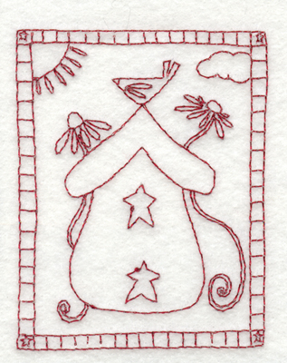 """Embroidery Design: Snickerdoodle A Place in the Sun3.02"""" x 3.85"""""""