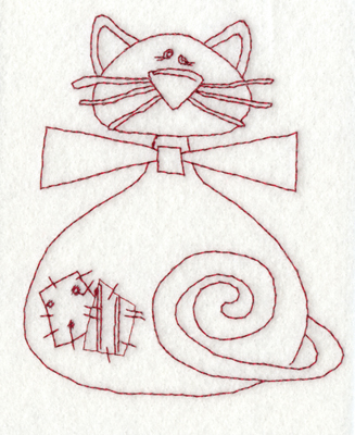 """Embroidery Design: Patch Cat3.73"""" x 4.37"""""""
