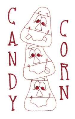 """Embroidery Design: Candy Corn (large)3.50"""" x 5.84"""""""