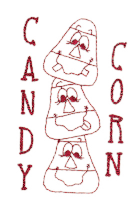 """Embroidery Design: Candy Corn2.38"""" x 3.97"""""""