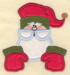 """Embroidery Design: Santa with gloves appliques4.24""""w X 4.46"""""""