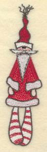 """Embroidery Design: Santa doll applique1.61""""w X 6.23"""""""