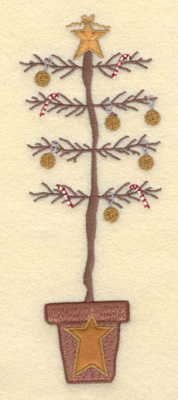 Embroidery Design: Christmas Tree with Applique Base2.69w X 7.09h