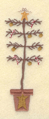 Embroidery Design: Christmas Tree Small1.58w X 4.19h