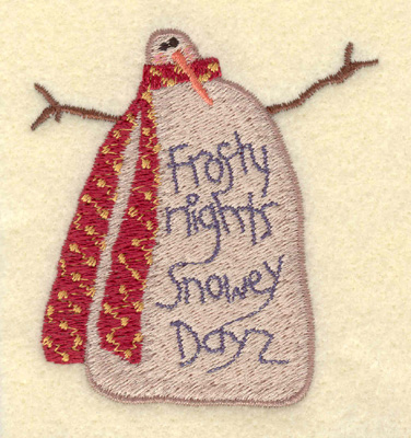 Embroidery Design: Snowman Small Frosty Nights2.88w X 3.05h