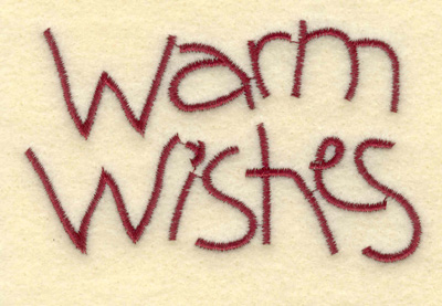 Embroidery Design: Warm Wishes3.51w X 2.13h